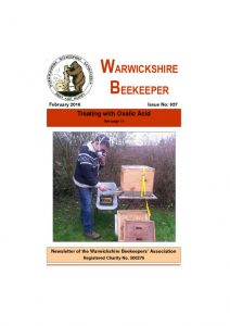 thumbnail of Warwickshire Beekeeper 657 – February 2016