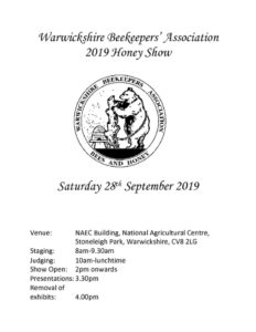 WBKA County Honey Show @ Stoneleigh Park