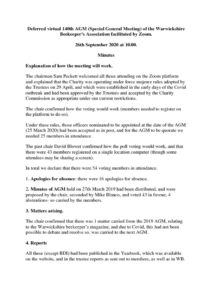 thumbnail of minutes of the Deferred virtual 140th AGM of WBKA